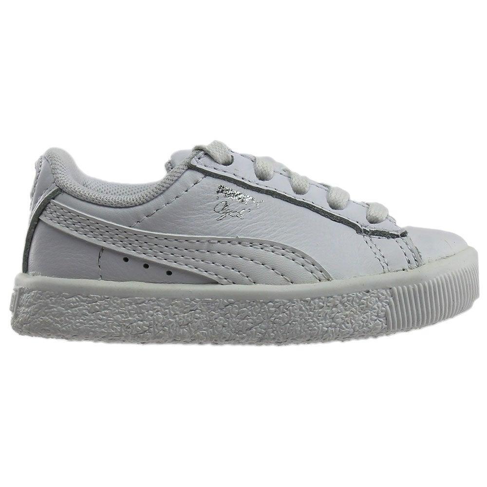 589919d9d548f6 Details about Puma Clyde Core Foil Infant Sneakers White - Boys - Size 4 M