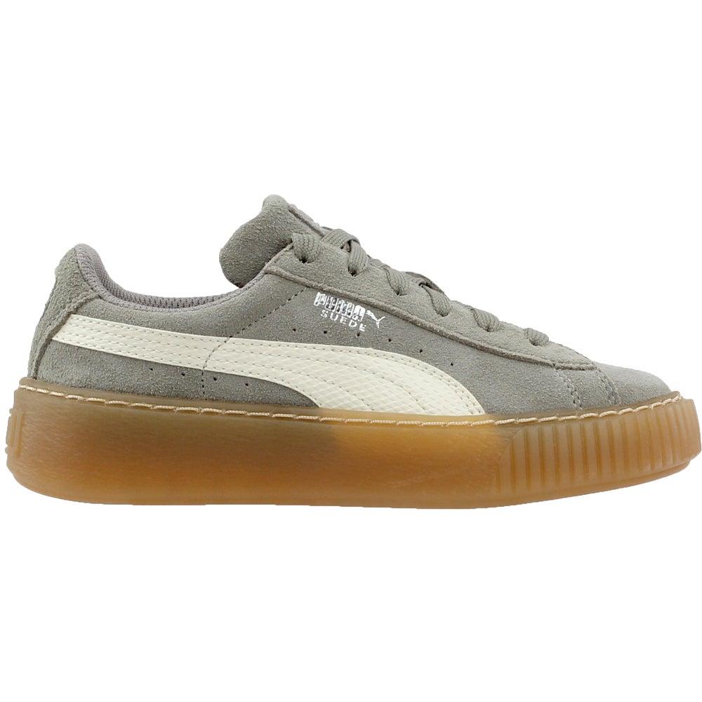1c59acf1ec6a88 Details about Puma Suede Platform Snake Preschool Sneakers - Grey -