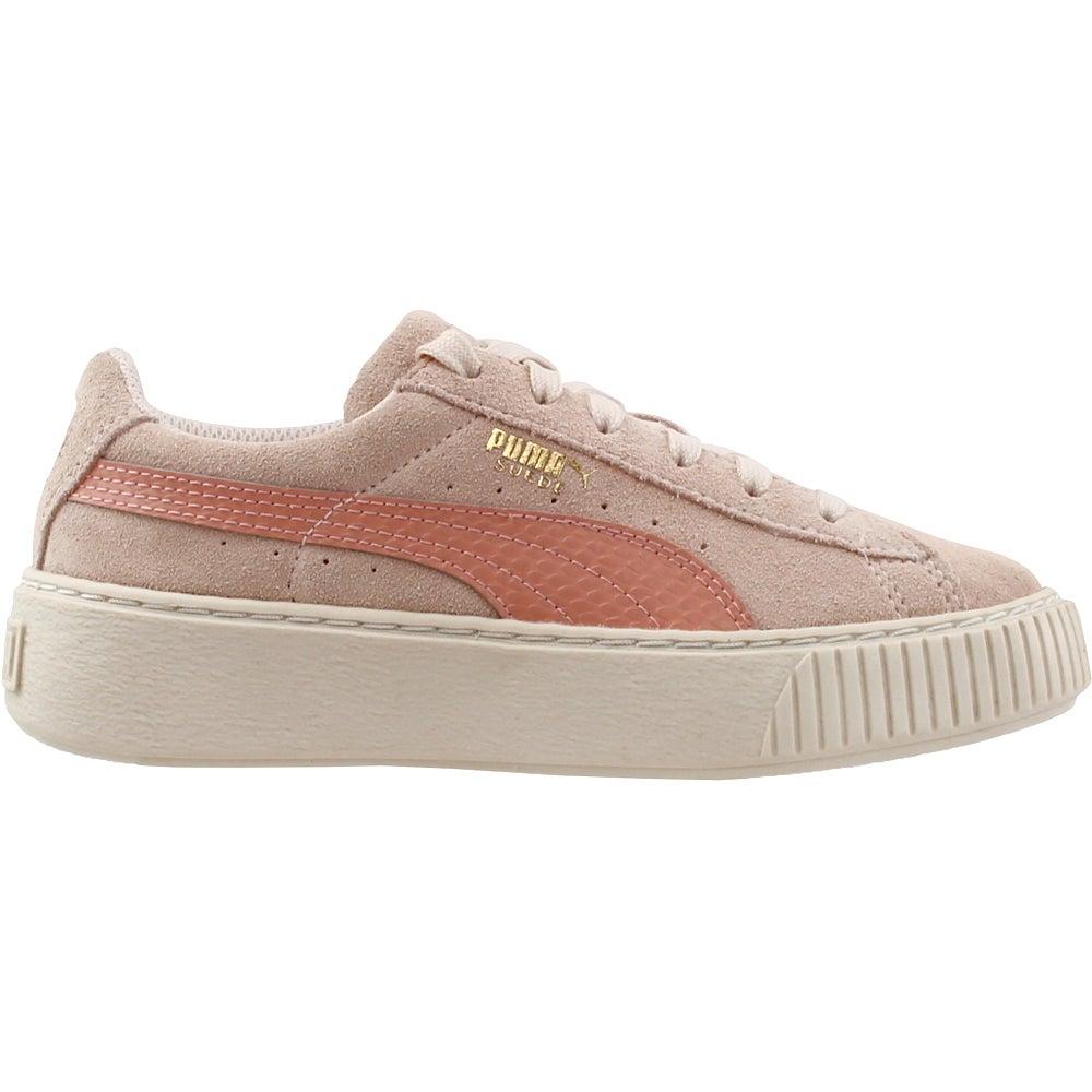 3b564ed1b29065 Details about Puma Suede Platform Snake Preschool Sneakers - Pink -