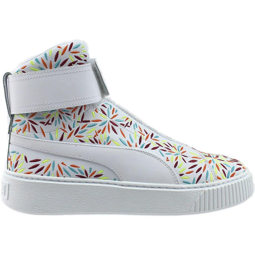 8a665a3196 Puma Platform Mid Kiku Sneakers - White - Womens | eBay