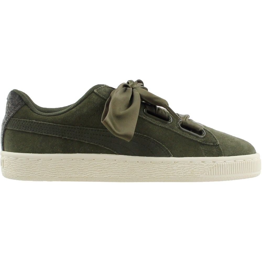 Details about Puma Suede Heart Velvet Rope Casual Sneakers Green Womens