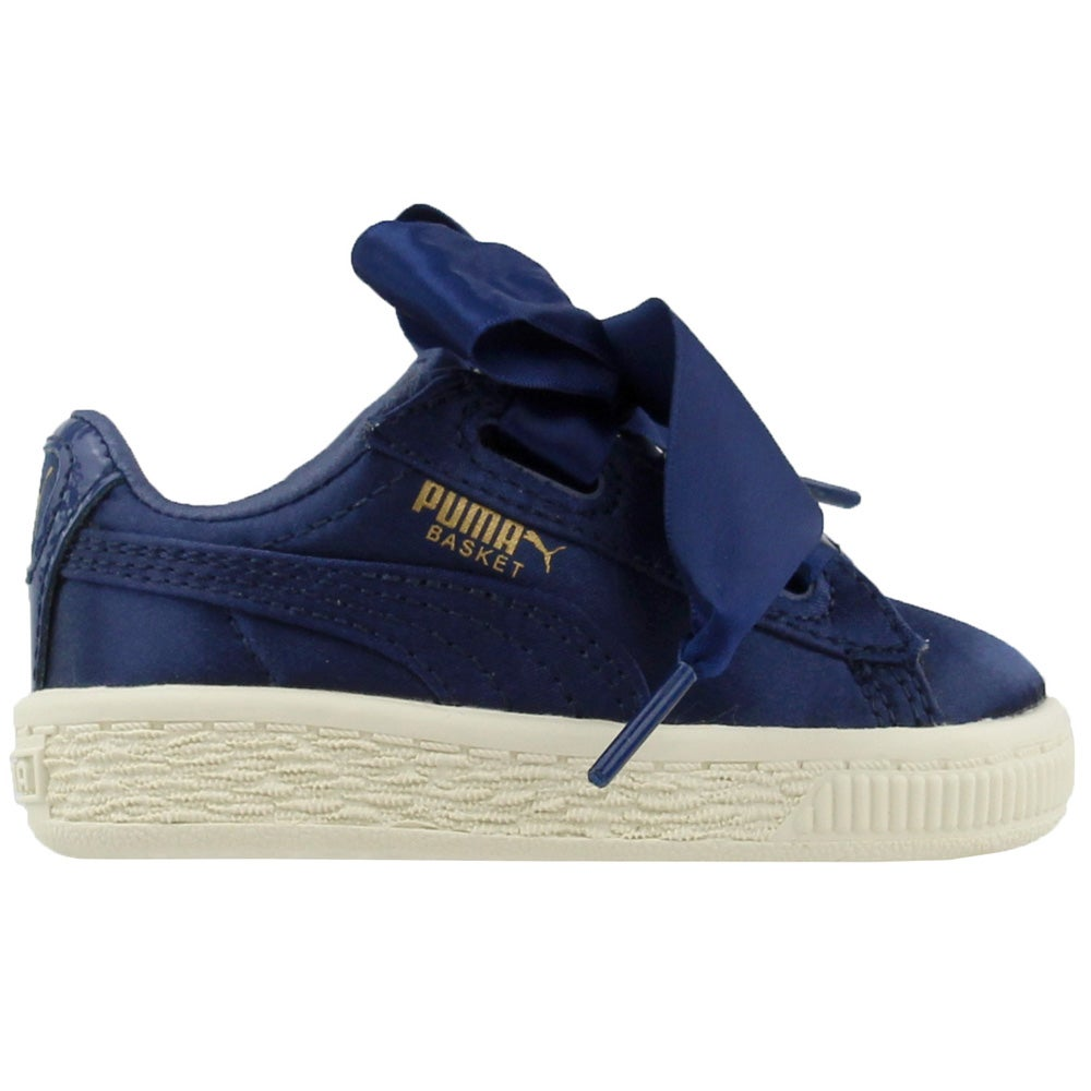 official photos 031cd 854c3 Details about Puma Basket Heart Infant Casual Sneakers - Navy - Girls