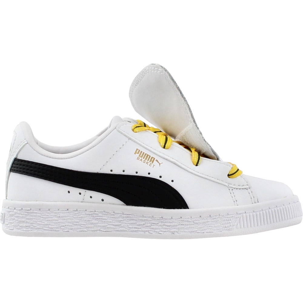 Details about Puma Minions Basket Tongue PS White Boys Size 1.5 M