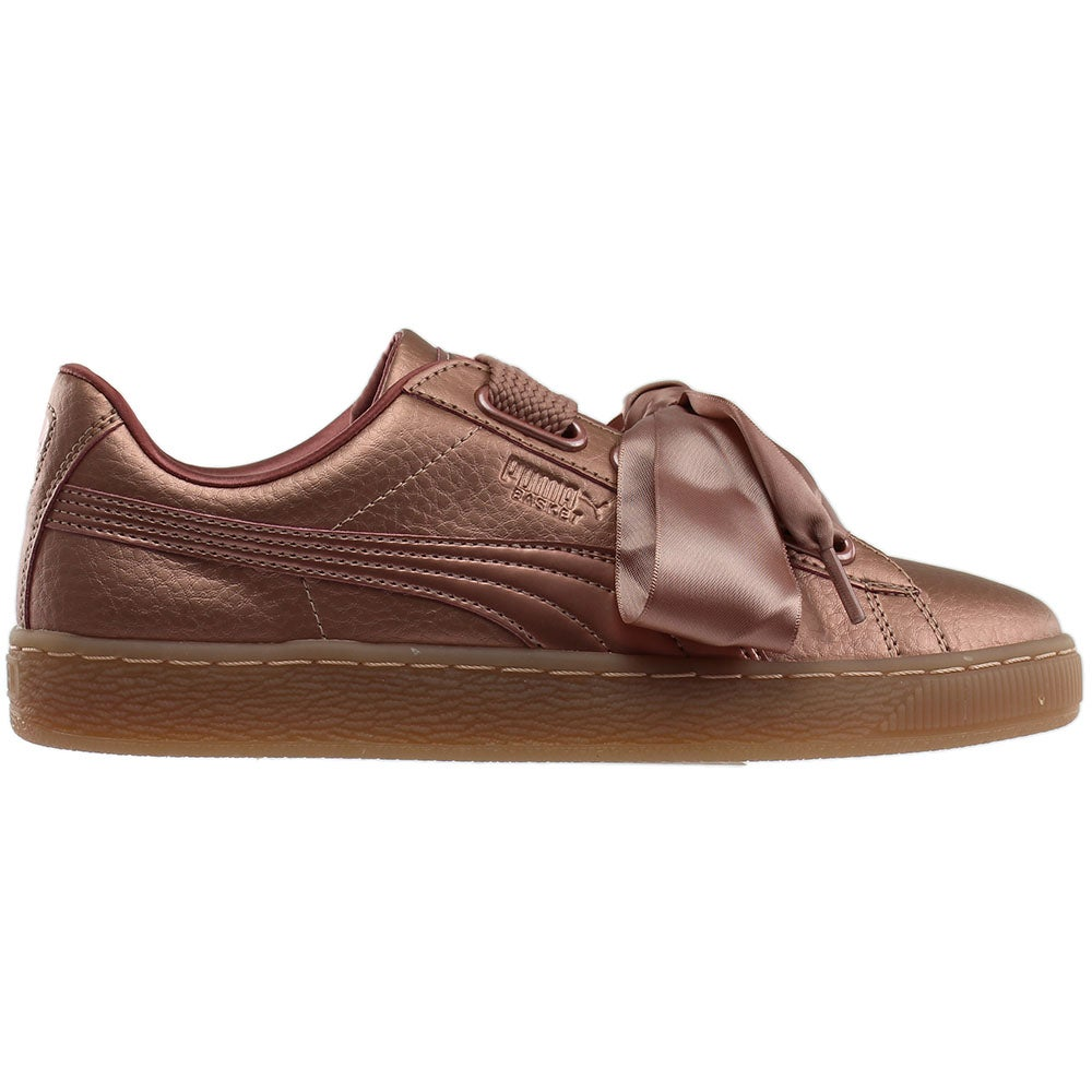 huge selection of ab1e5 9cc3a Details about Puma Basket Heart Copper Casual Sneakers - Copper - Womens