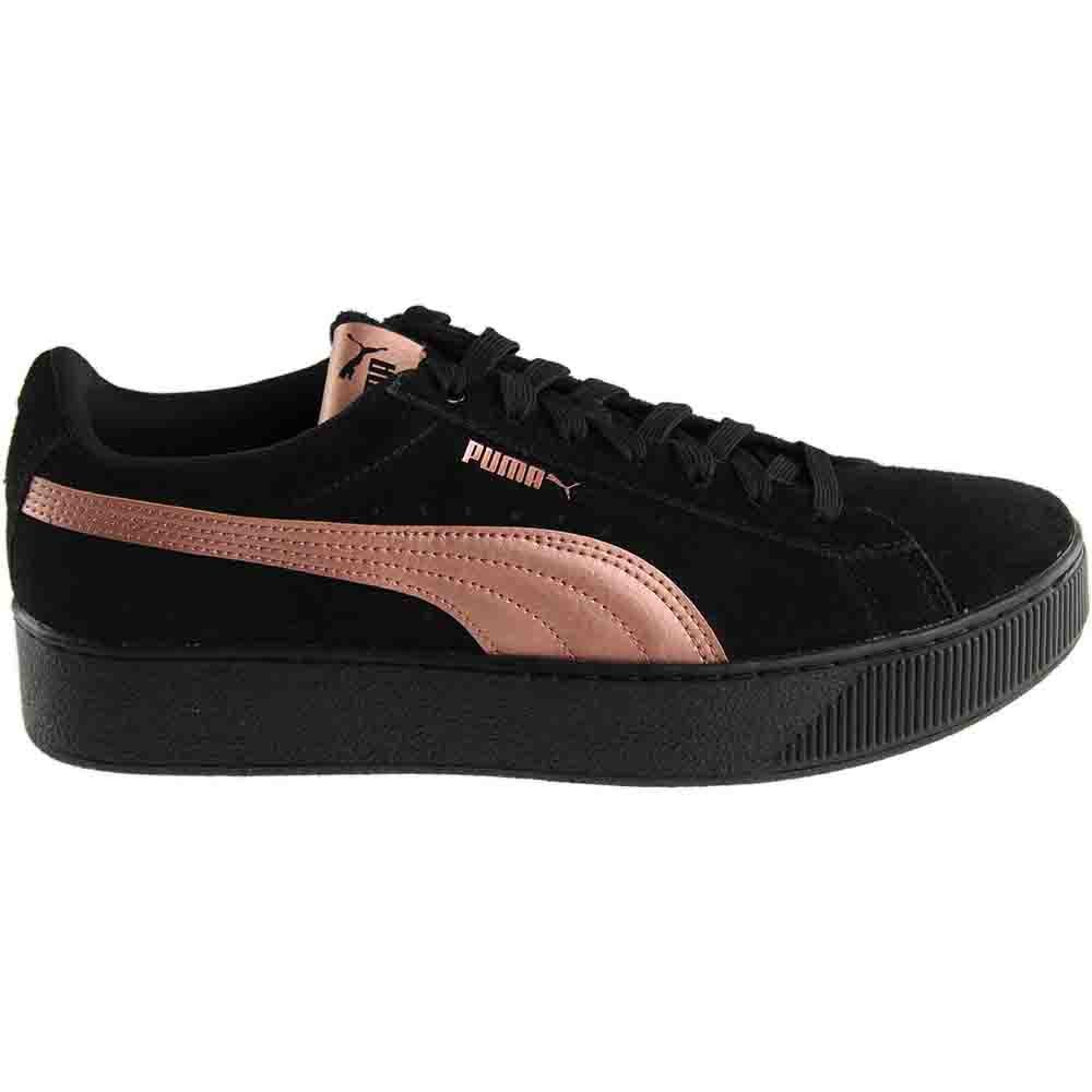 eed96fa57a91 Details about Puma Vikky Platform RG Sneakers - Black - Womens