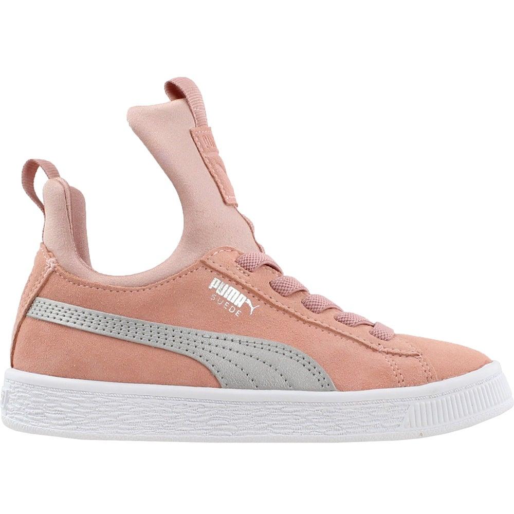ba1dad819cb679 Details about Puma Suede Fierce AC Preschool Sneakers - Beige - Boys