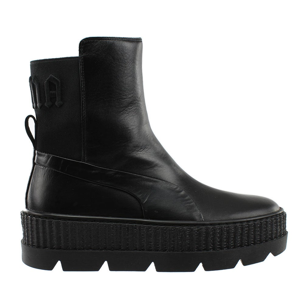 Generoso Cuerpo calor  Puma Fenty by Rihanna Chelsea Booties Black Womens Platform, Pull on Booties