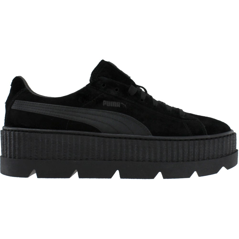 detailed look 42394 f6c78 Details about Puma Fenty by Rihanna Suede Cleated Creeper Casual Sneakers  Black - Mens -