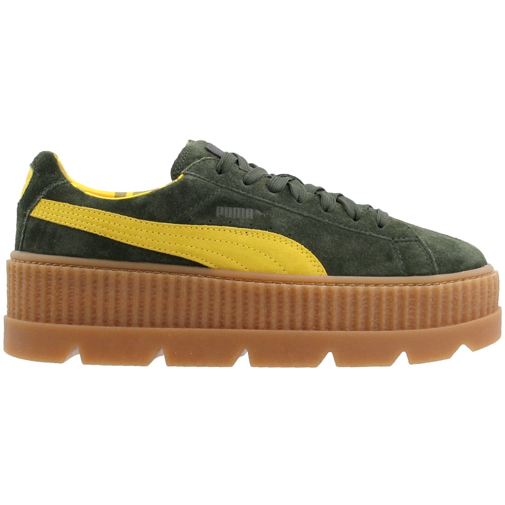 new concept 98a7e 8396c Details about Puma Fenty by Rihanna Suede Cleated Creeper Casual Sneakers  Green - Womens -