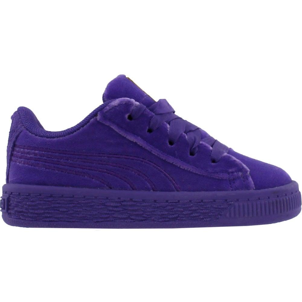 official photos 8a53c 68237 Details about Puma Basket Classic Velour Infant Sneakers - Purple - Boys