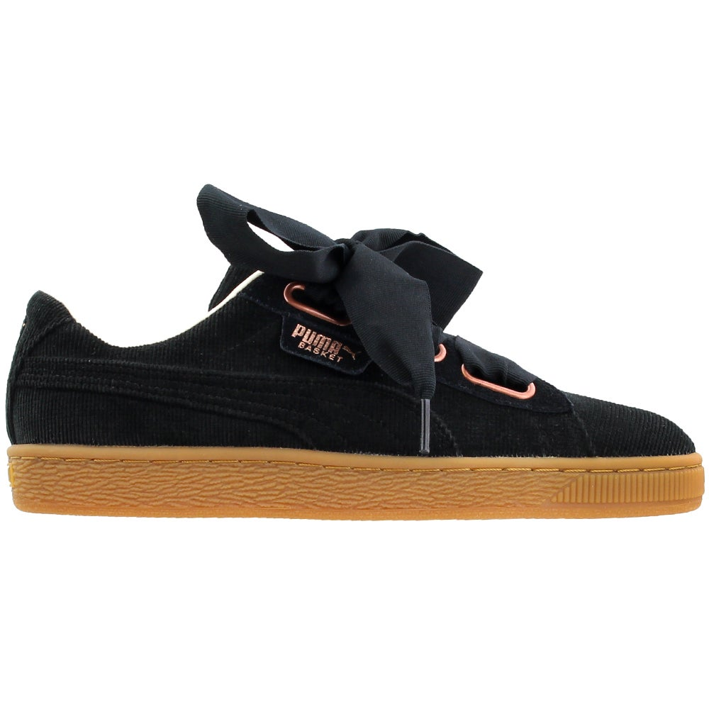 meet c638f 2d455 Details about Puma Basket Heart Corduroy Casual Sneakers - Black - Womens