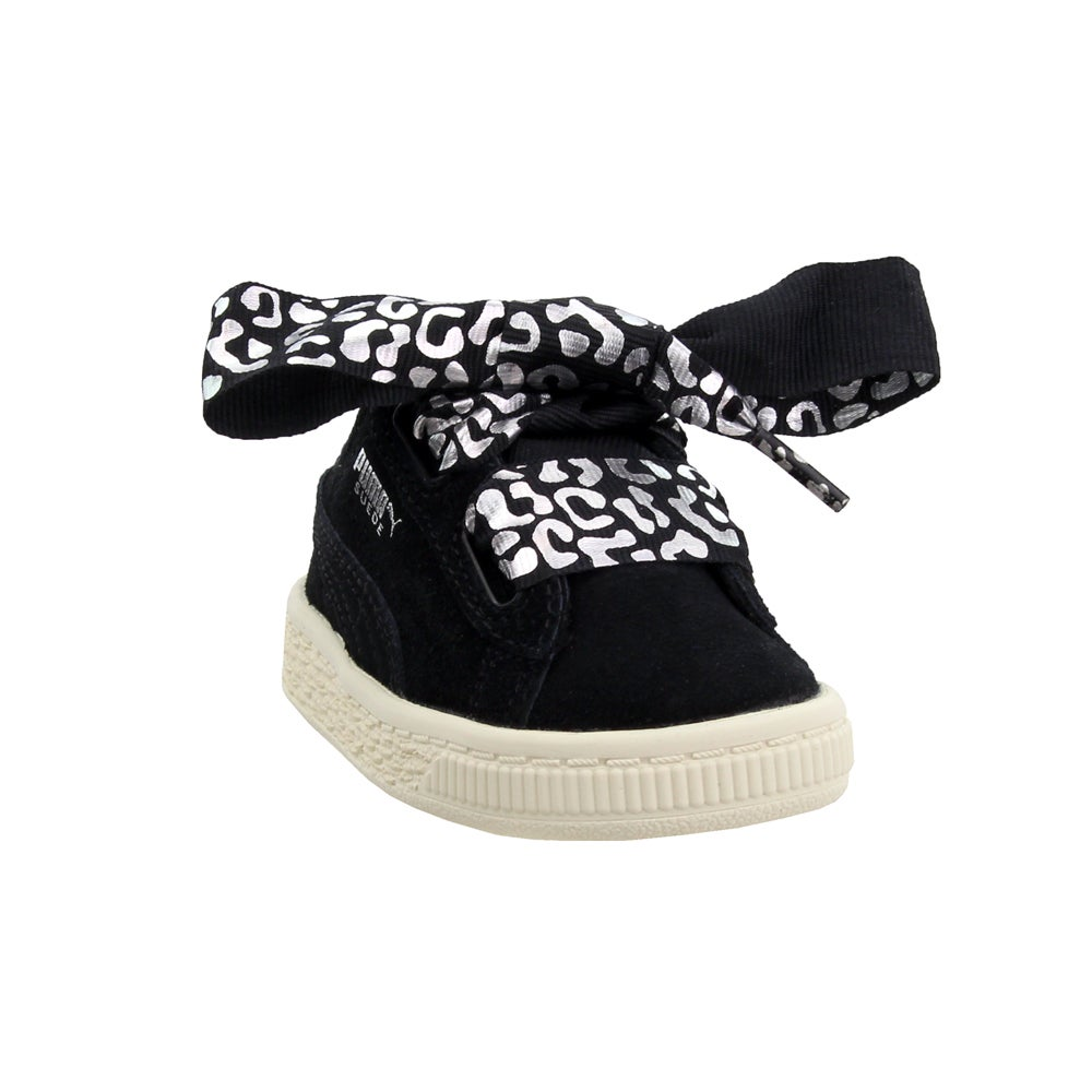 Puma Suede Heart Athluxe infant  Casual   Sneakers - Black - Girls 1