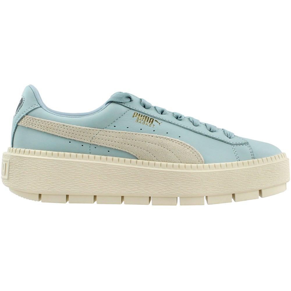 1483dfec3abda3 Details about Puma Basket Platform Trace Block Sneakers - Blue - Womens