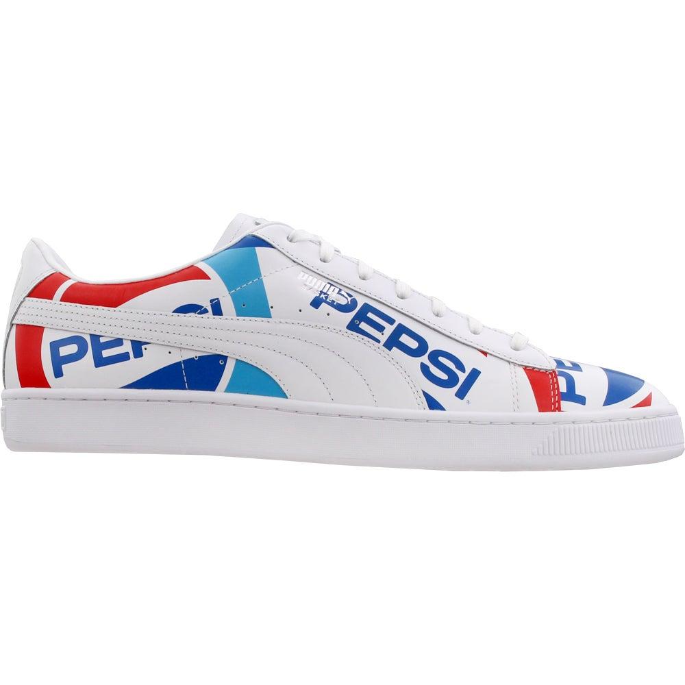 Menos Preguntarse lluvia  Puma Basket x Pepsi Lace Up Sneakers Blue, White Mens Lace Up Sneakers