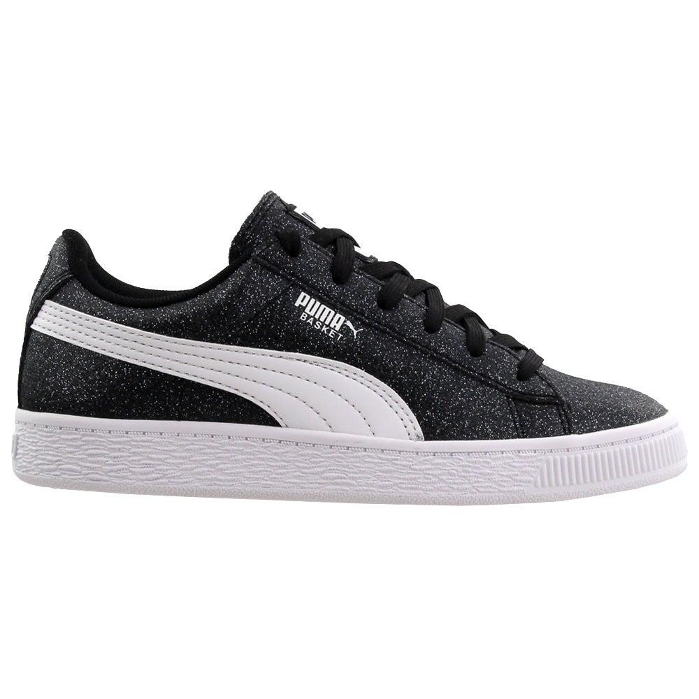 Puma Basket mid strap glitz v preschool Sneakers Casual   Sneakers Beige Girls