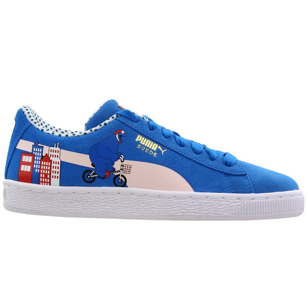 Détails sur Puma 50 Suede Junior X Sesame Street Casual Baskets Bleu Garçon afficher le titre d'origine