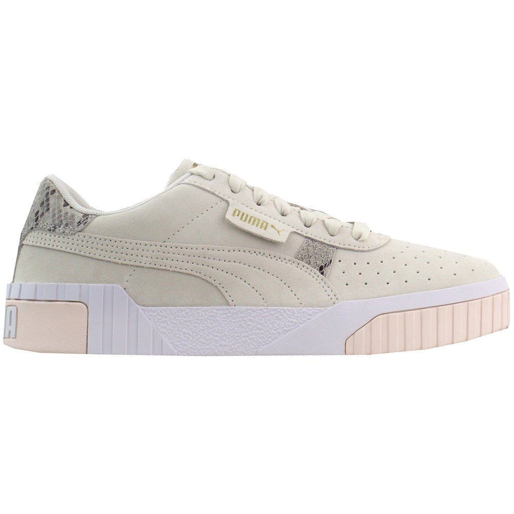 Puma Cali Suede Snake Platform Sneakers Off White, Pink Womens ...