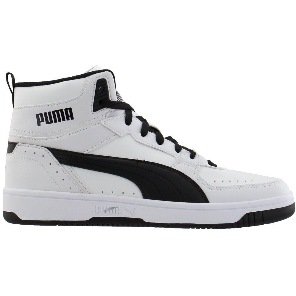 Puma Rebound Layup Joy Lace Up Sneakers Black, White Mens Lace Up ...
