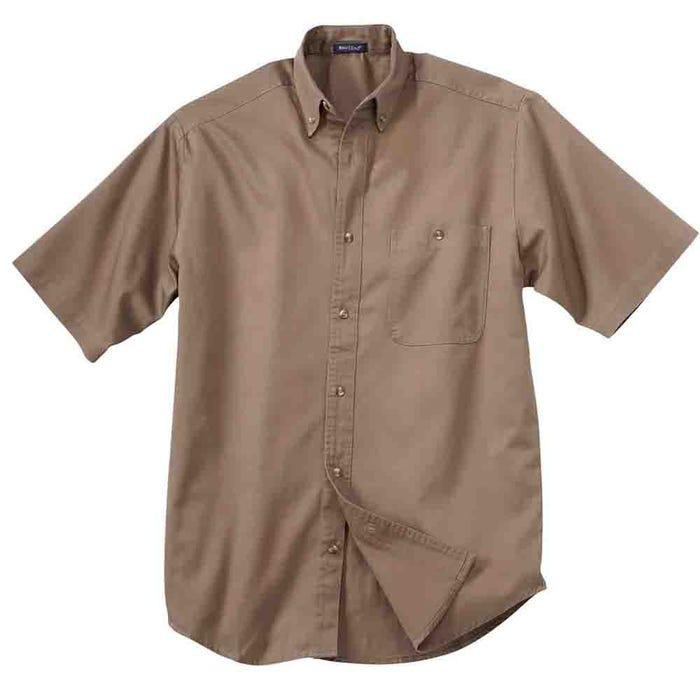 Short Sleeve Denim and Twill Shirt