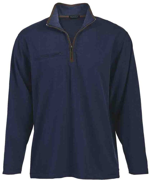 Brushed Quarter Zip Jersey Pullover