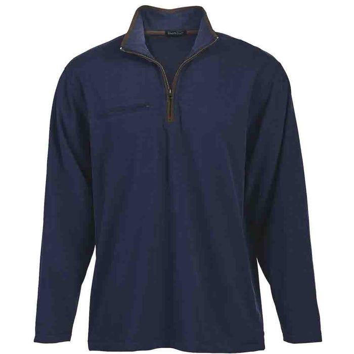 Brushed Quarter Zip Jersey Pullover