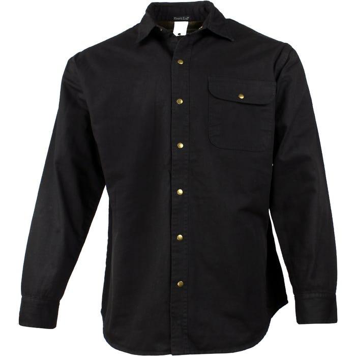 River's End Canvas & Flannel Shirt Jacket