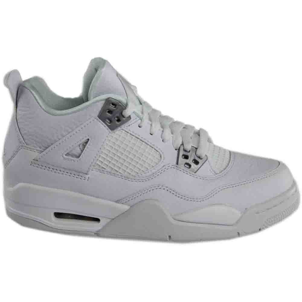 79889fcbaa57 UPC 887223032564. Nike Air Jordan 4 Retro BG Pure White Big Kids Basketball  Shoes 408452-100 ...