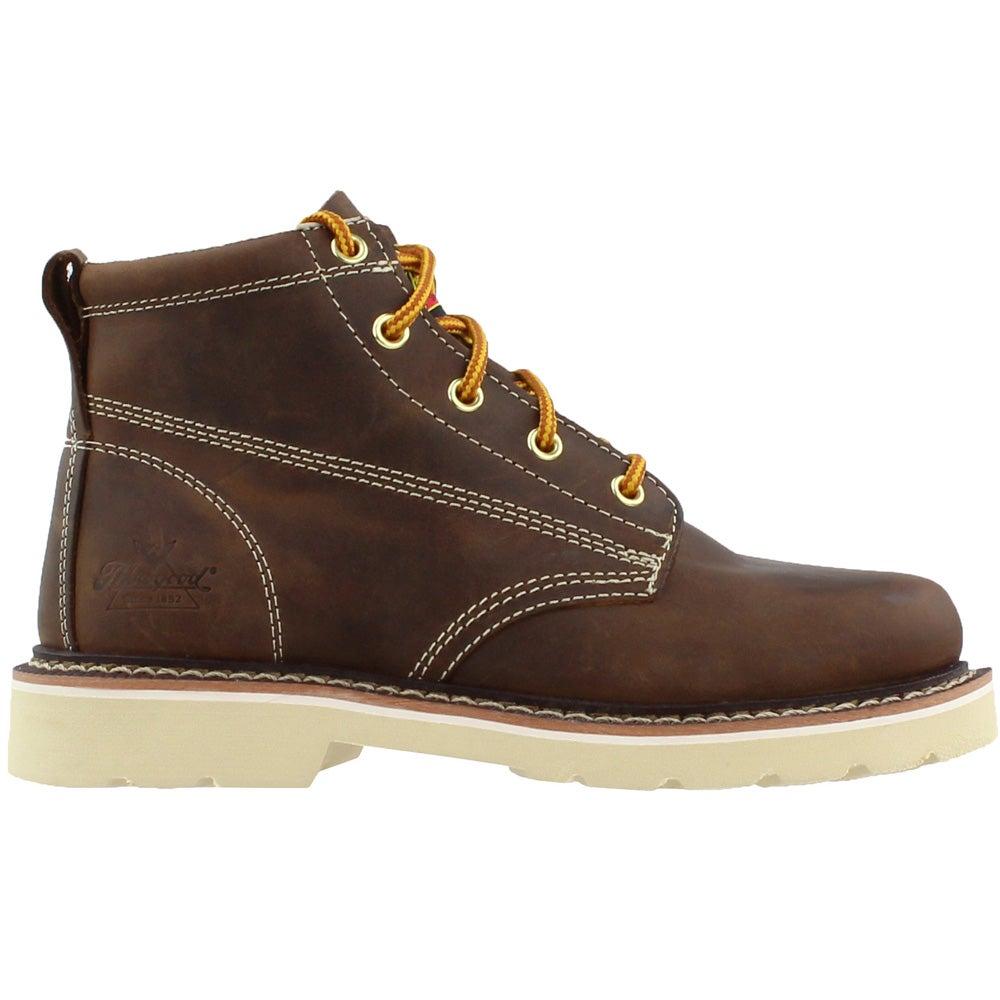 b1b7d9e7735 Details about Thorogood Tucker Plain Toe Boots - Brown - Boys