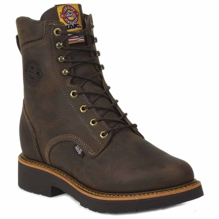 Justin Original Work Rugged Chocolate Gaucho 8in