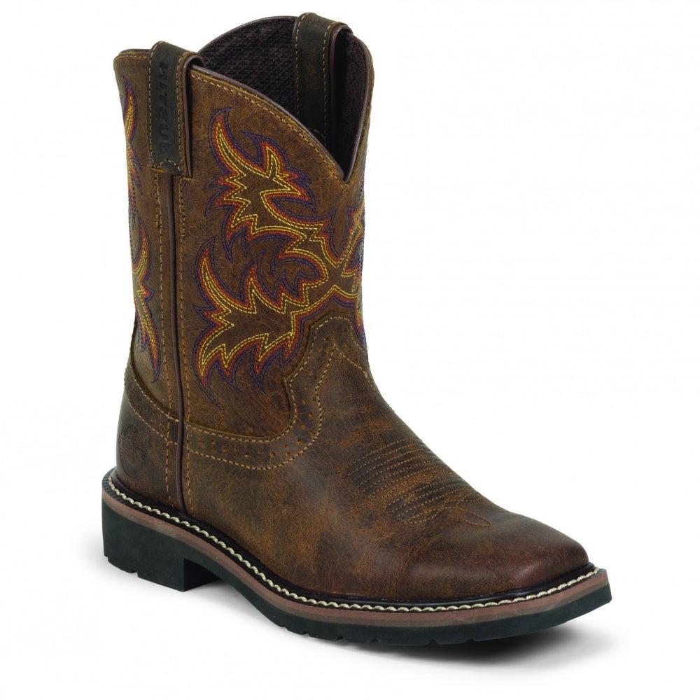 Justin Boots Rugged Tan Buffalo