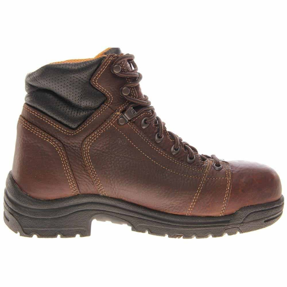3743713b9ca Timberland Pro TiTAN Lace-To-Toe 6in Safety Toe Brown Work Boots and ...