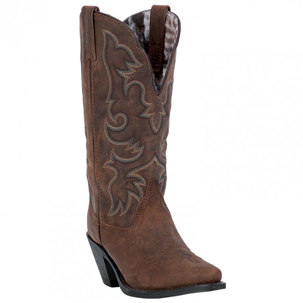 f5f77cb716e Laredo Access 51078 Womens Tan Leather Wide Calf Western BOOTS 9.5 ...
