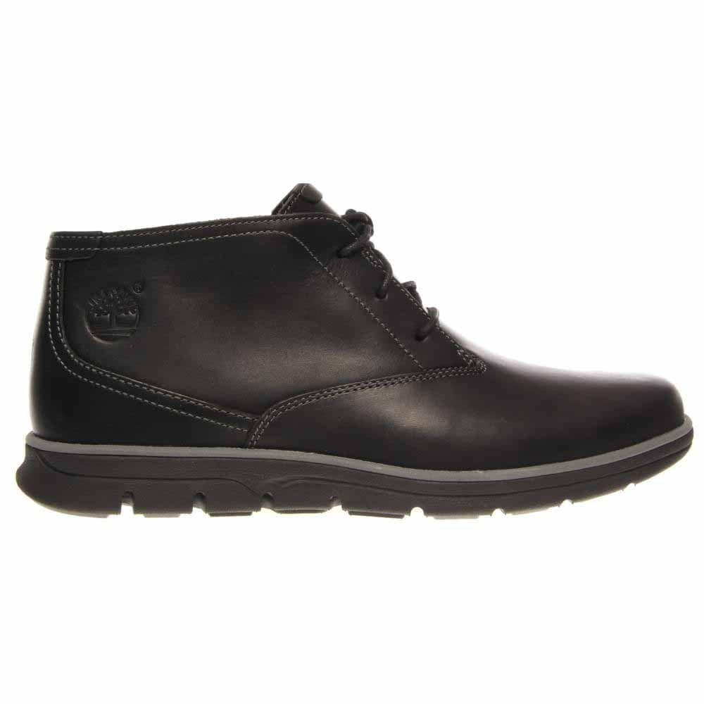 Image of Bradstreet Plain Toe Chukka Shoes - Black - Mens