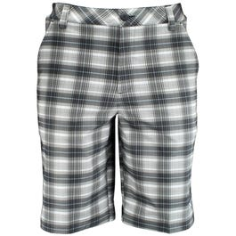 Tech Blur Plaid Bermuda Shorts