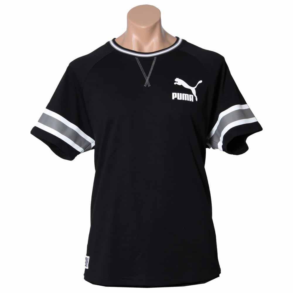 Puma Jersey T-Shirt Black - Mens  - Size
