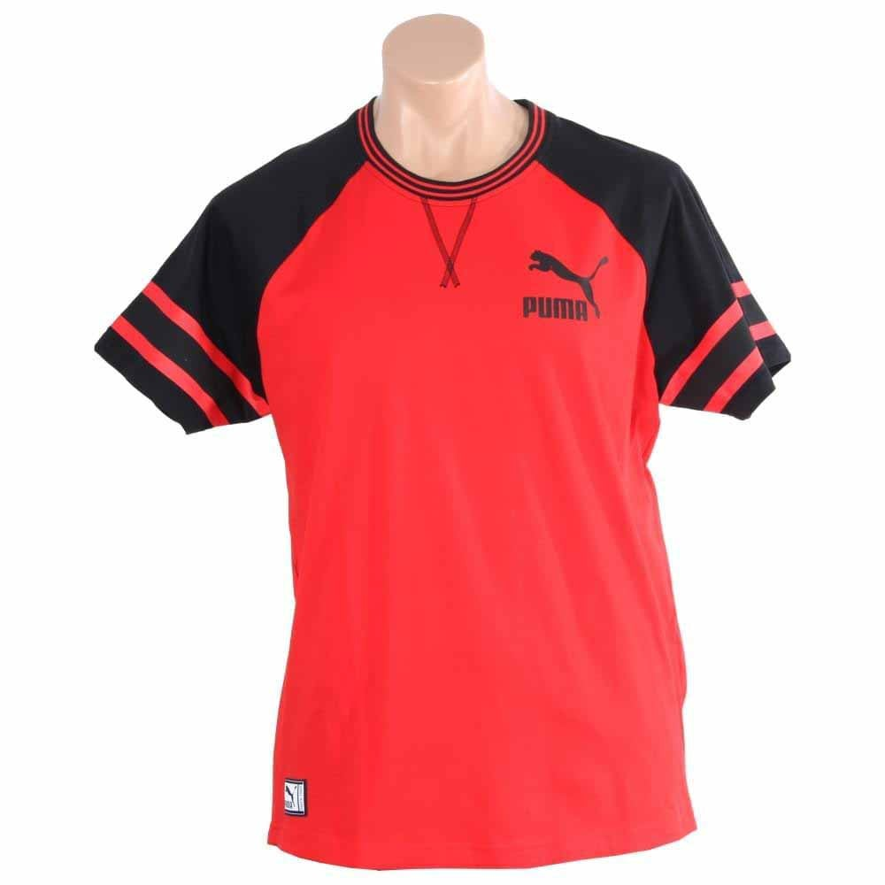 Puma Jersey T-Shirt Red - Mens  - Size