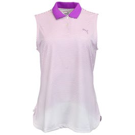 3D Stripe Sleeveless Golf Polo Shirt