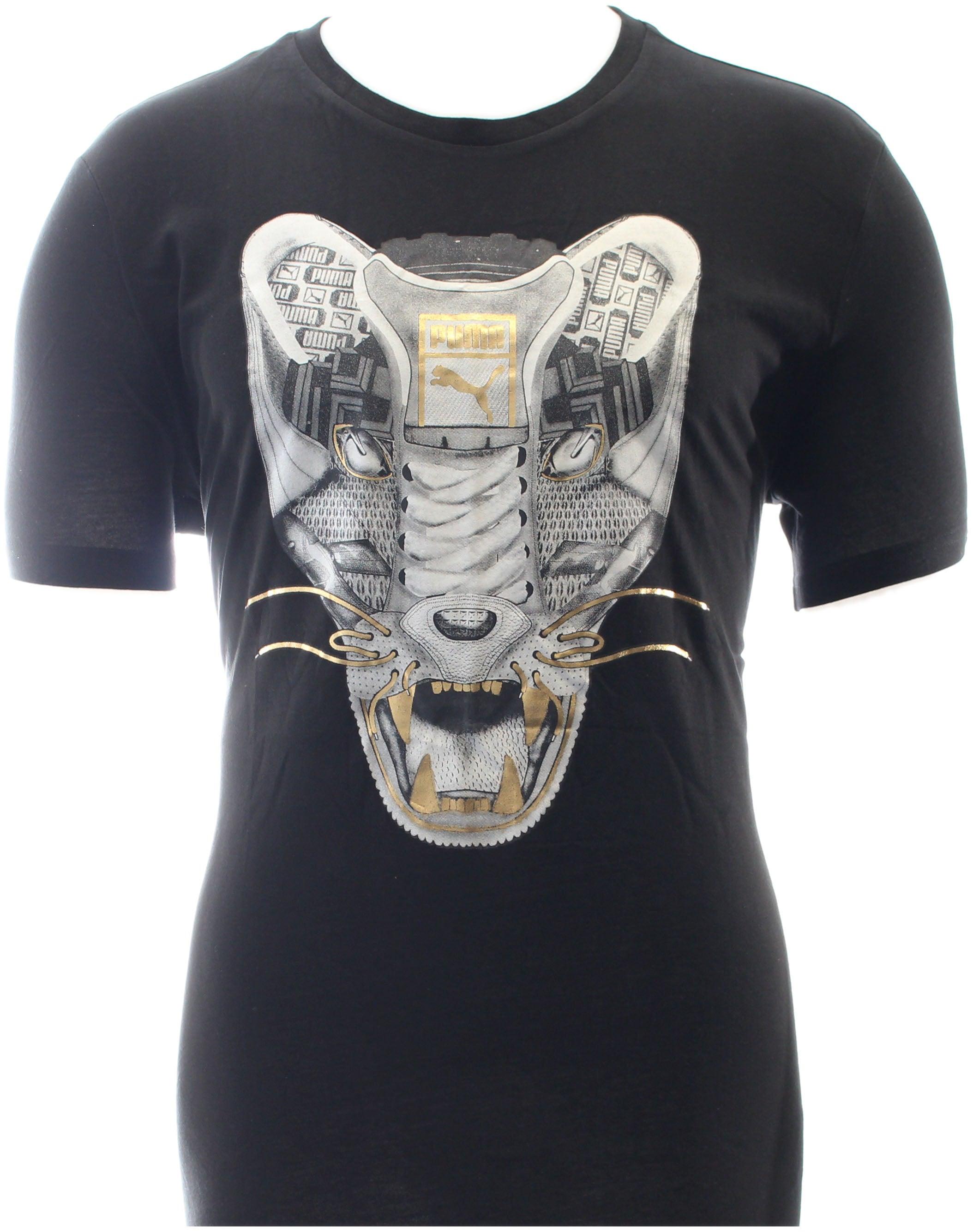 Puma Sneaker Tee 3 Black - Mens  - Size