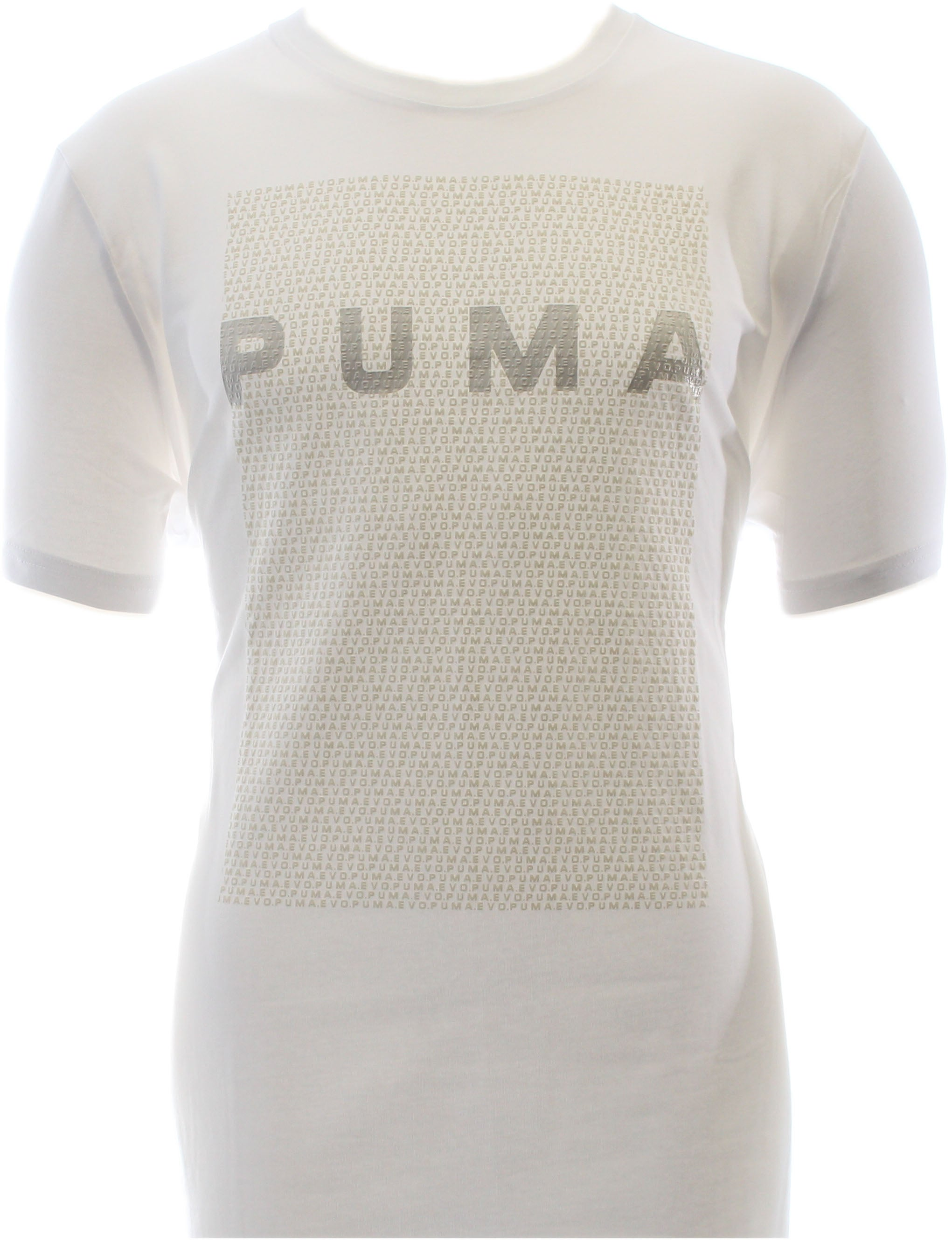Puma Evo Long Tee White - Mens  - Size