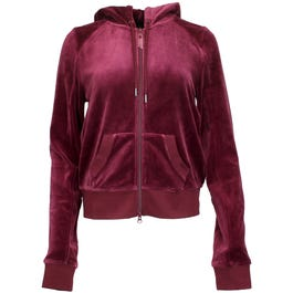 Fenty by Rihanna Velour Fitted Zip up Track Jacket