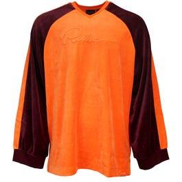 Fenty by Rihanna Velour Oversized V-Neck Pullover