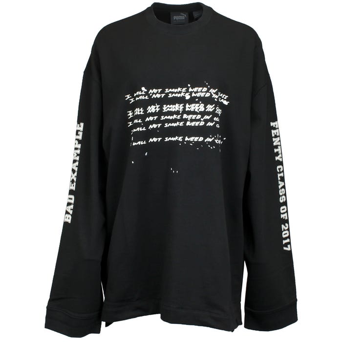 eb7a11ac734a Fenty by Rihanna Long Sleeve Graphic Crew Neck T-Shirt