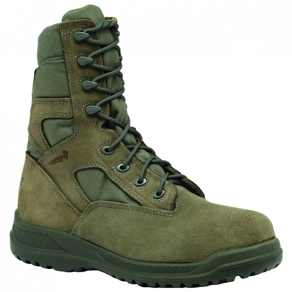 Belleville Hot Weather Tactical Safety Toe Boot Green - Green Boot - Uomo 6b4469
