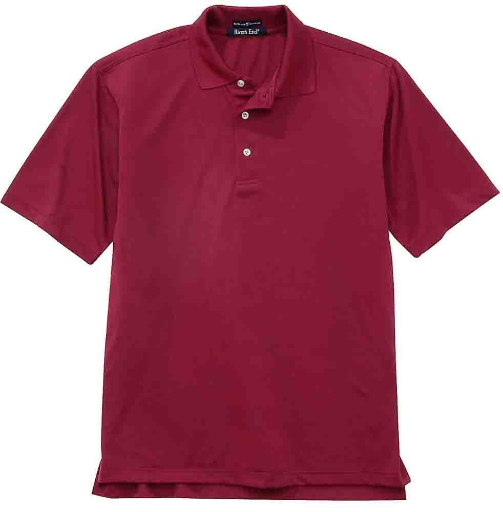 Rivers End UPF 30+ Body Map Polo Red - Mens  - Size