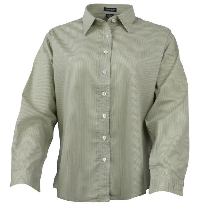 Long Sleeve EZCare Striped Shirt