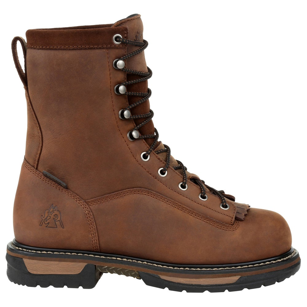 Rocky Ironclad Steel Toe Waterproof Kiltie  - Marroneee - Mens
