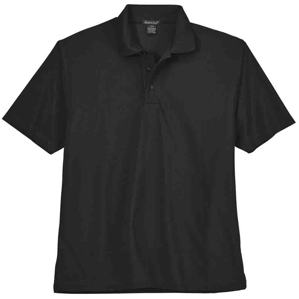 Rivers End Performance Edge Polo Black - Mens  - Size Xl