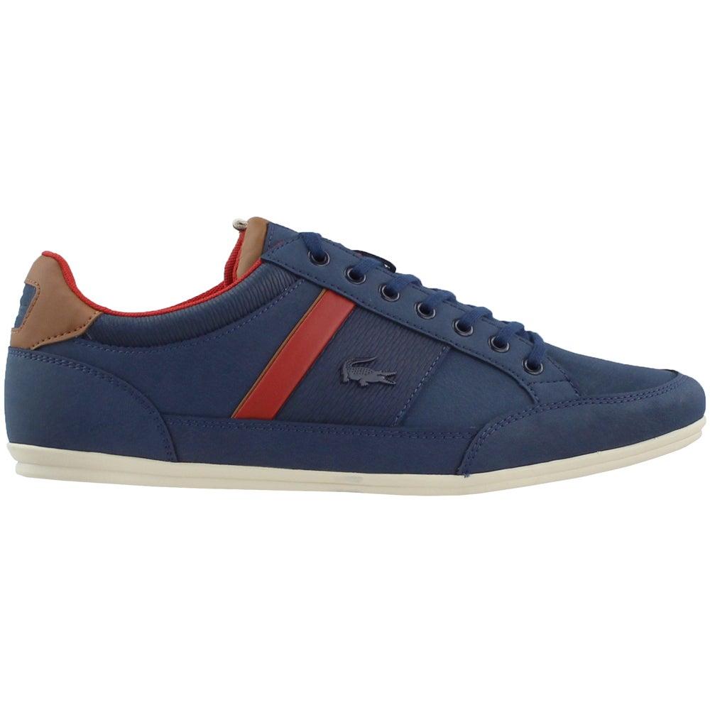 01ec5564b9fbd Details about Lacoste Chaymon 318 2 CAM Sneakers - Navy - Mens