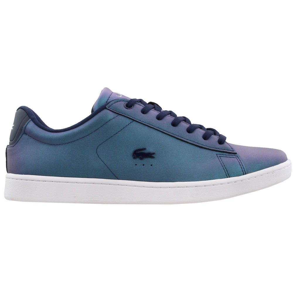 1ba565e205a93b Details about Lacoste Carnaby EVO Pearlised Leather Trainers Sneakers - Navy  - Womens