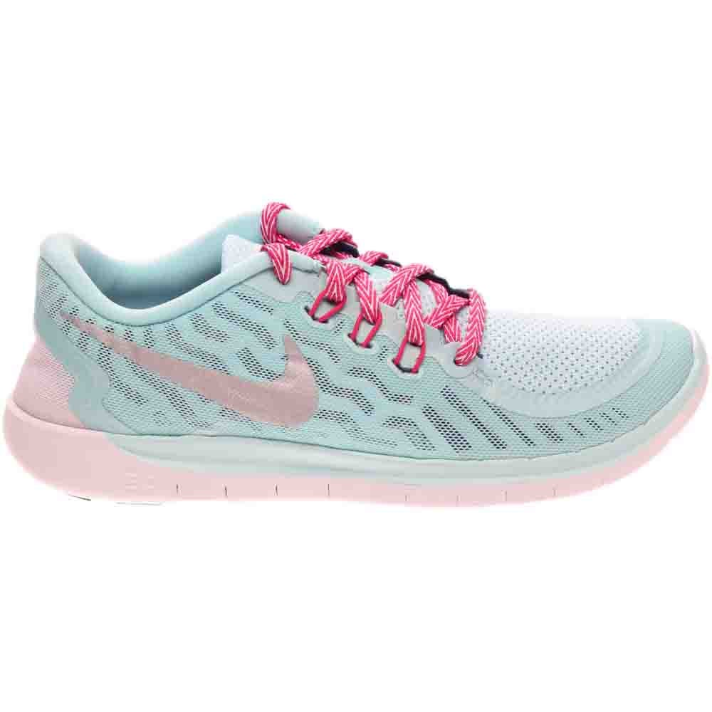 Details about Nike Free 5.0 Grade School Running Shoes Blue- Girls- Size 7 M
